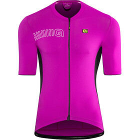 Alé Cycling Solid Color Block Jersey korte mouwen Heren, cyclamen